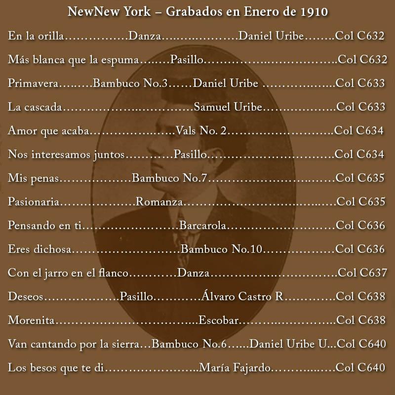 New York – Grabados en Enero de 1910